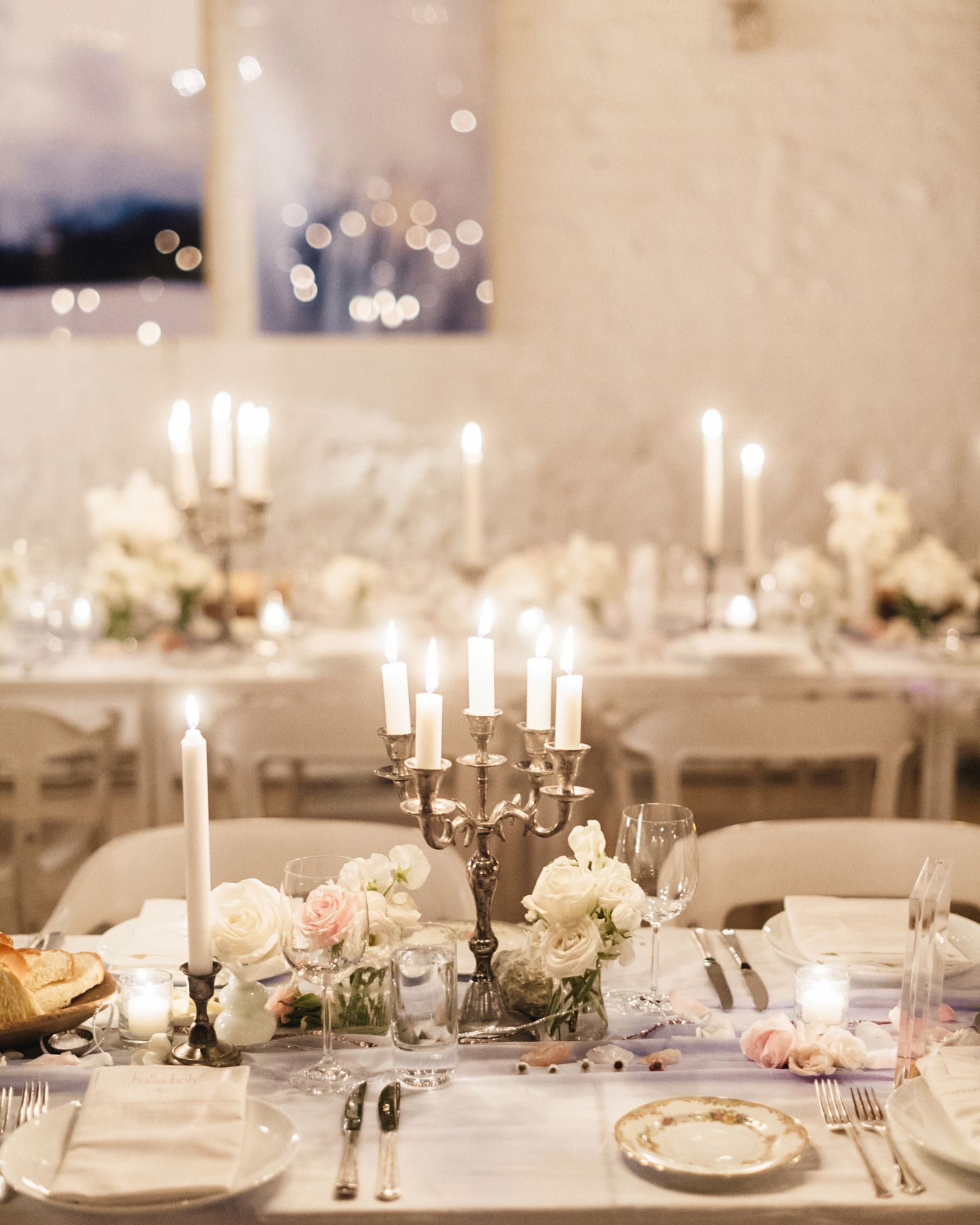 For this New Years Day wedding, mini candelabras were oxidized to ...