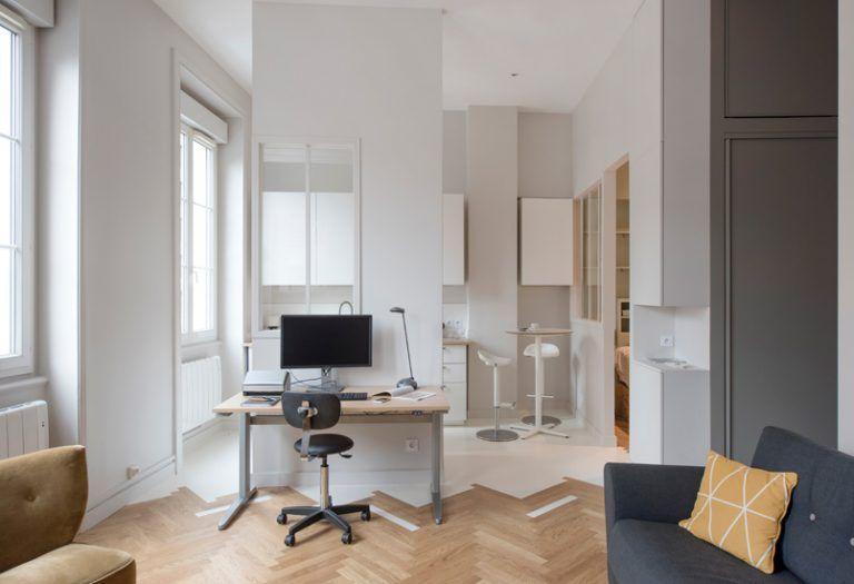 Deux Appartements Aux Intérieurs À Niveaux De Gris Élégants