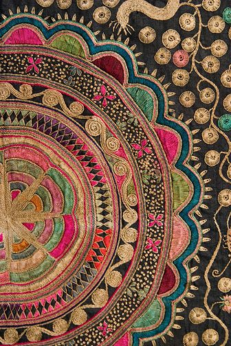 Miao Embroidered Textile By Anonymous Chinese Textile Decor Classy Chinese Fabric Patterns