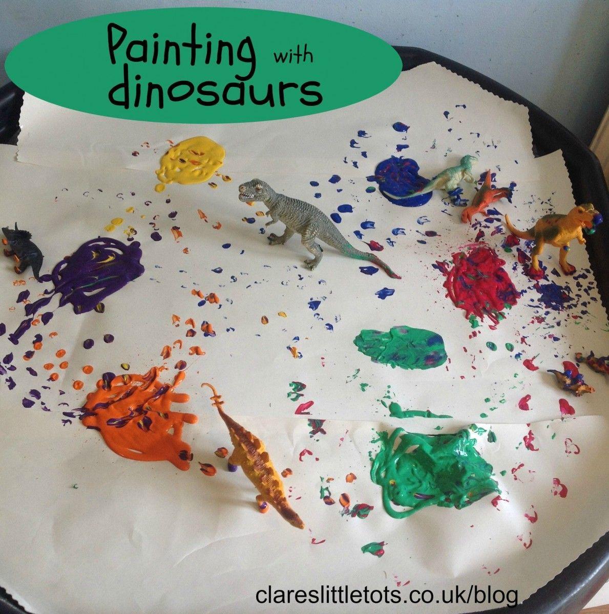 Huellas De Dinosauriospainting With Dinosaurs