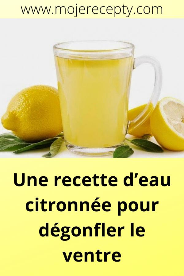 Une recette d'eau citronnée pour dégonfler le ventre (met