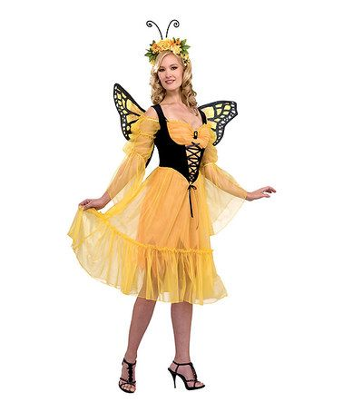 Look what I found on #zulily! Yellow Monarch Butterfly Costume Set - Women…