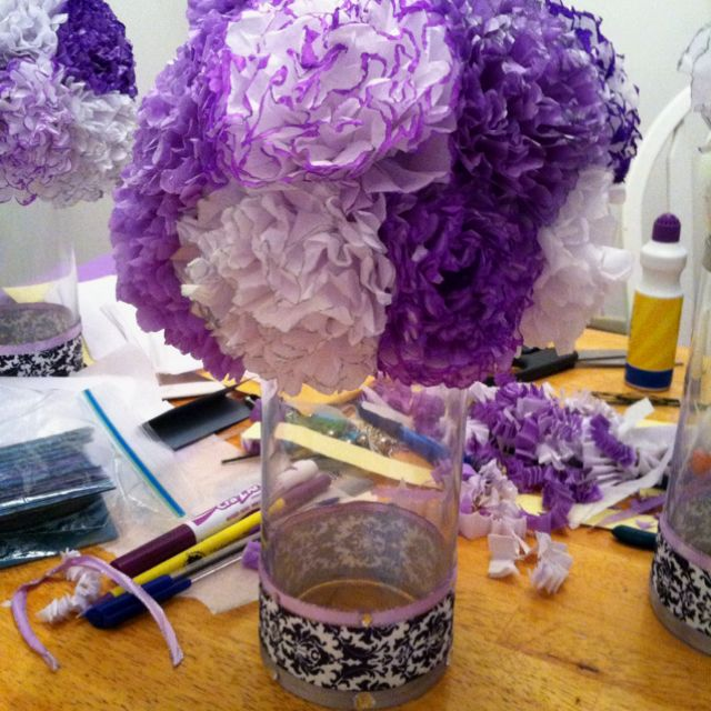 First ones finished diy wedding centerpiece minus the water pearls diy wedding centerpiece minus the water pearls and led light these are so beautiful junglespirit Image collections