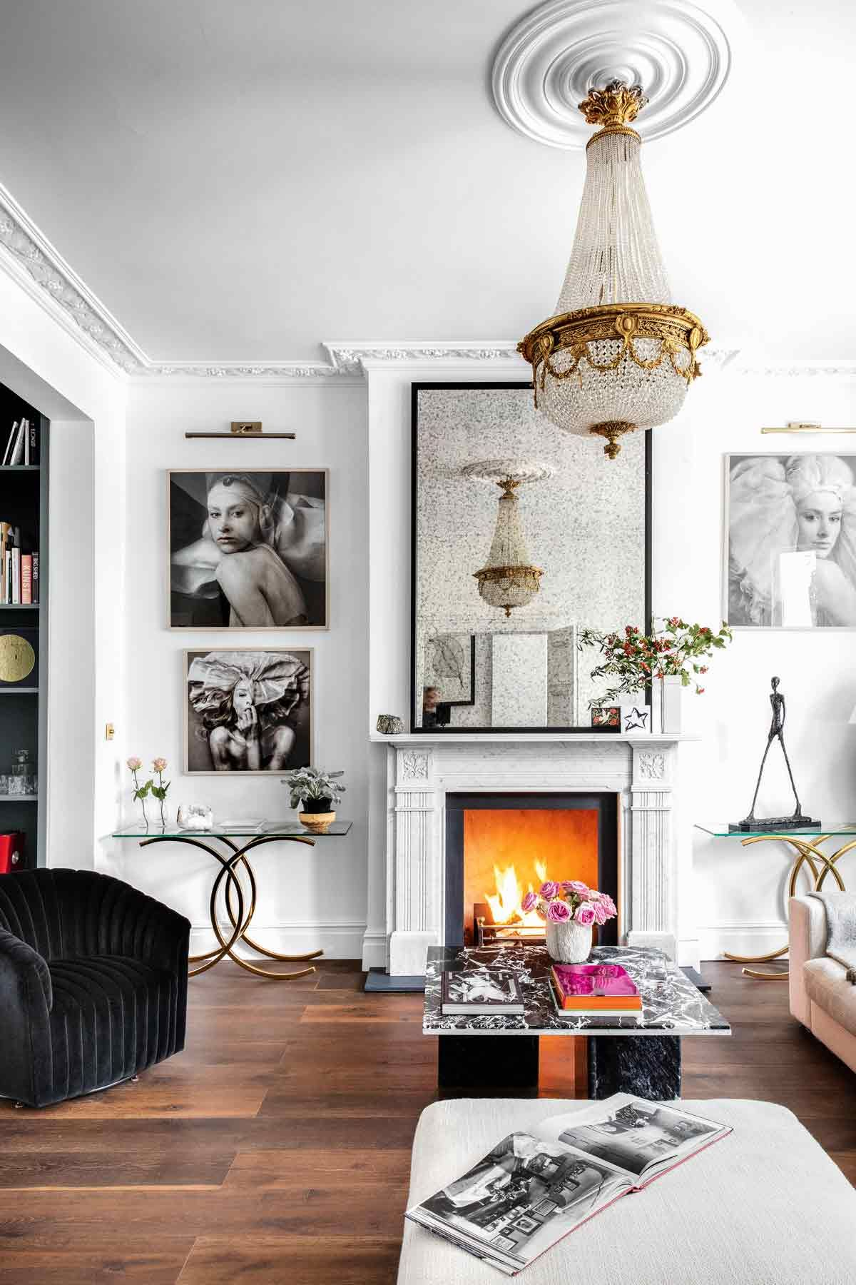 Townhouse Living Room Design: Explore A Serene, Elegant Victorian Townhouse That's Based