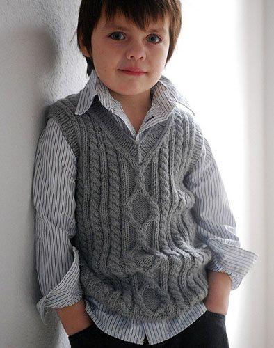 схема жилета спицами для мальчика