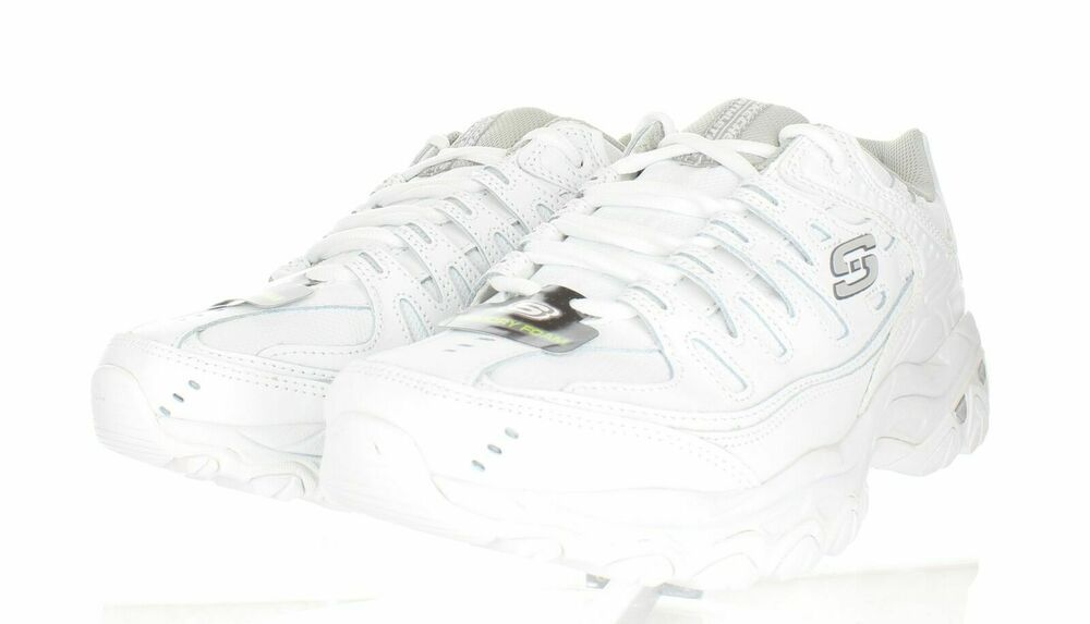 skechers mens white leather