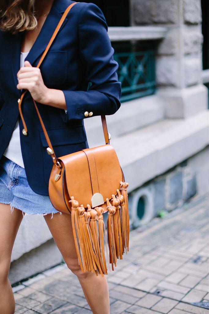 Cómo personalizar un bolso añadiendole flecos. DIY Tassel Bag