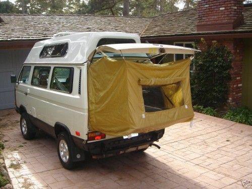 westfalia vanagon hacks & westfalia vanagon hacks | rear door tent | Pinterest | Tents Vw ...