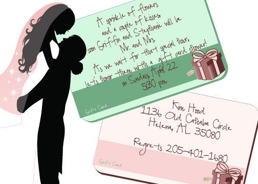 Gift card shower invitations $100 each like the wording Bridal - invitation wording for candle party