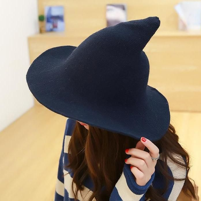 Modern Magic Cap Adult Women Witch Hat For Halloween Party Costume Accessory Cap