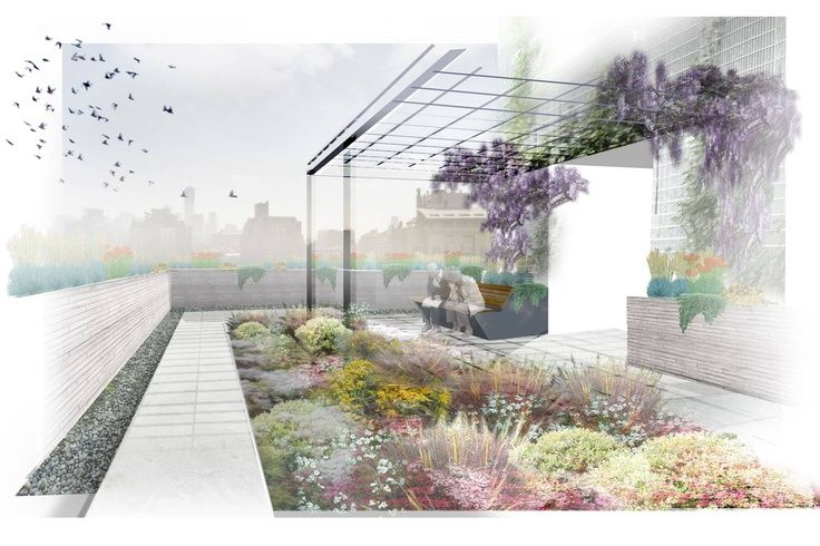 345 Meatpacking Landscape Architecture Perspective Landscape Architecture Graphics Landscape Architecture Plan