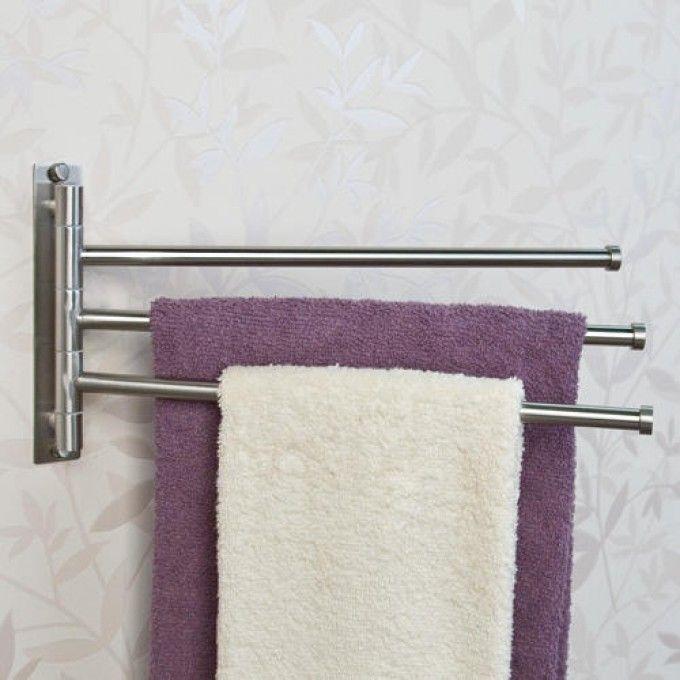 Unique Triple Swing Arm towel Bar