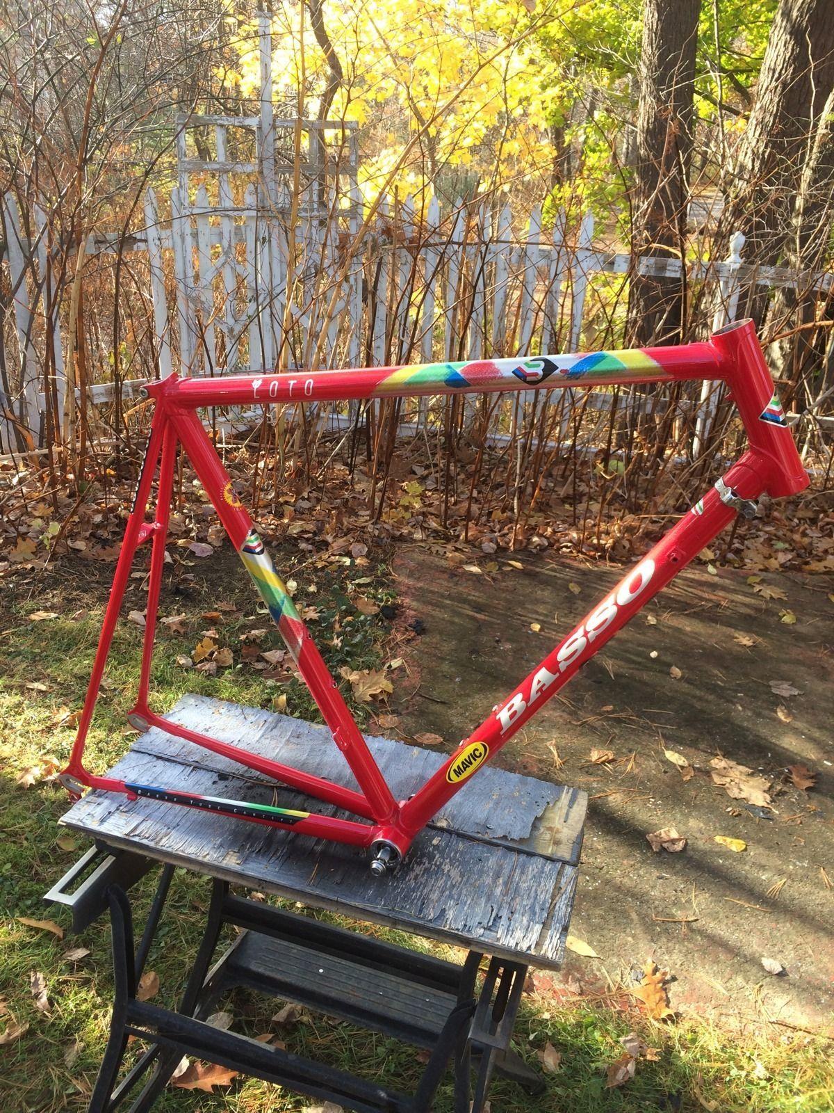 basso loto road bike frame 57cm vintage ebay