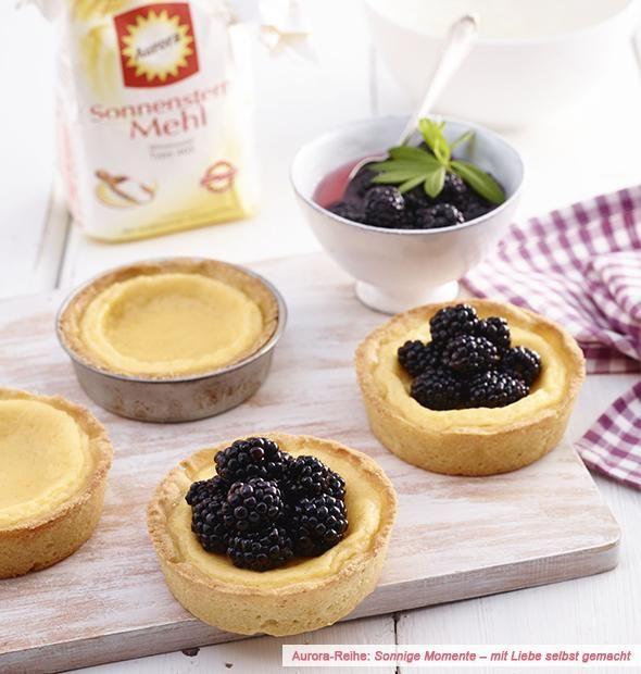 Vanille-Tartelettes mit Brombeeren: Rezept auf for me | For me online Germany #brombeerenrezepte