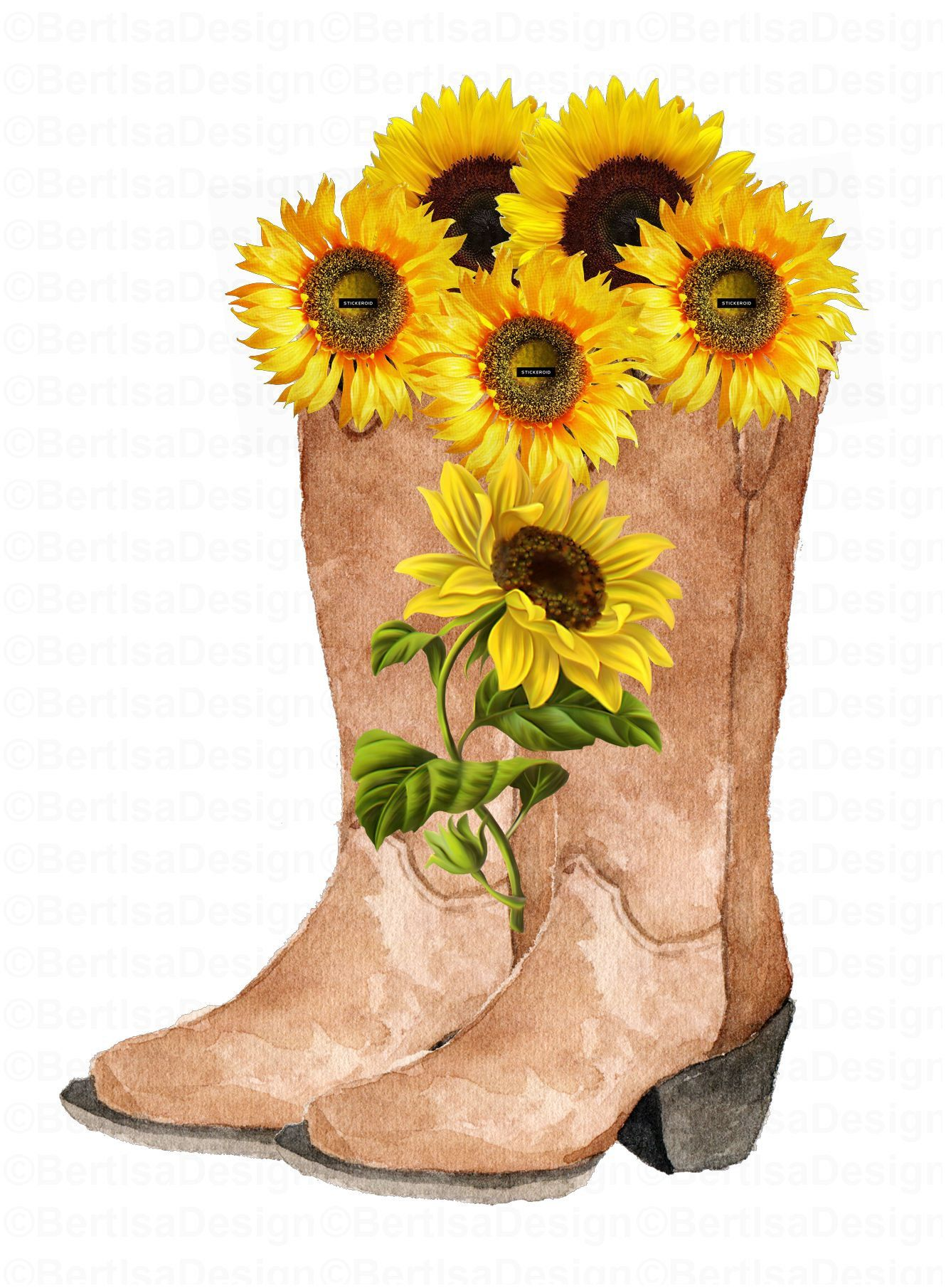 Cowgirl Boots Sunflower Cowgirl Boots Sublimation Etsy Sunflower Cowgirl Boots Cowgirl Boots Floral Watercolor