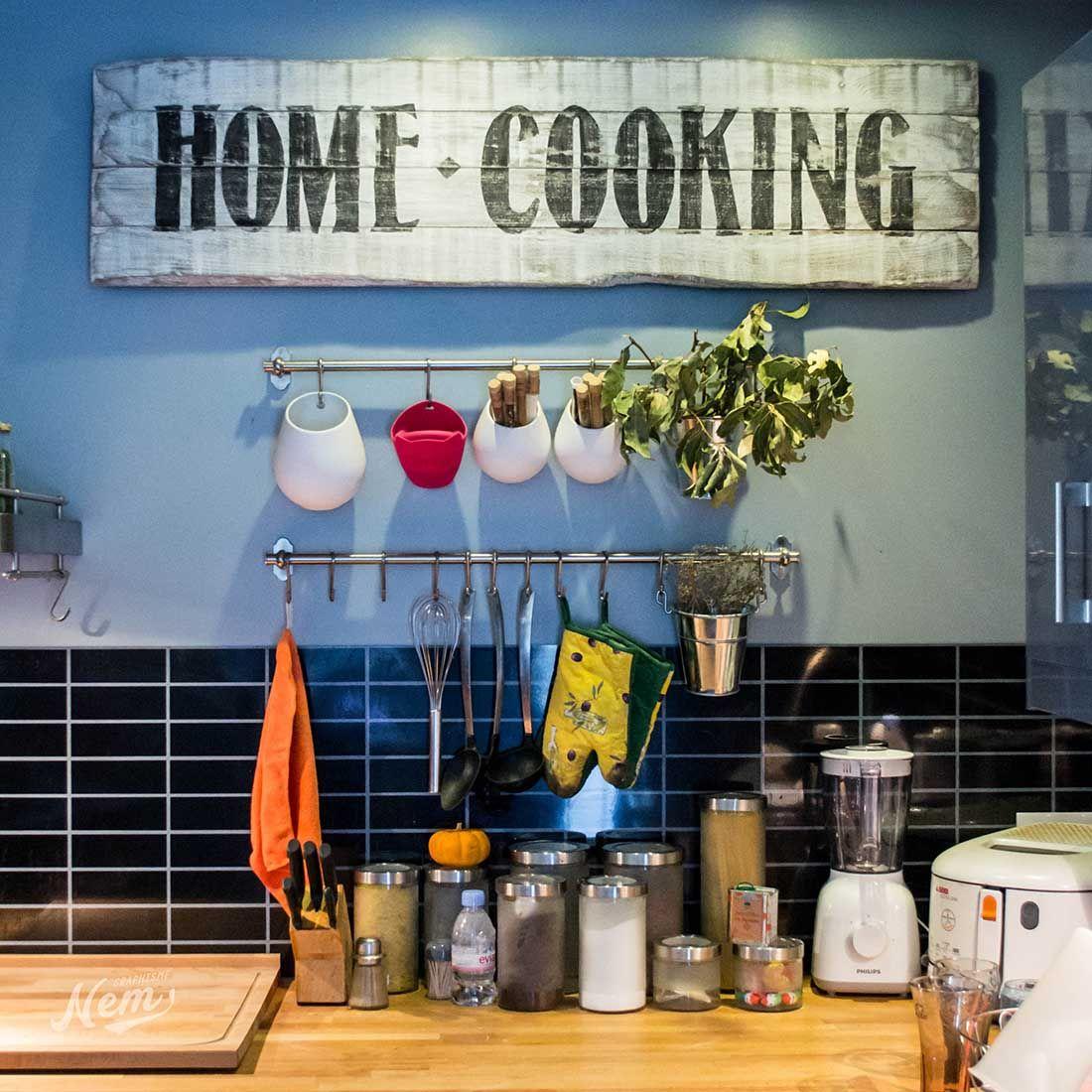 Enseigne vintage fait-main pour ma cuisine - NemGraphisme  Idees