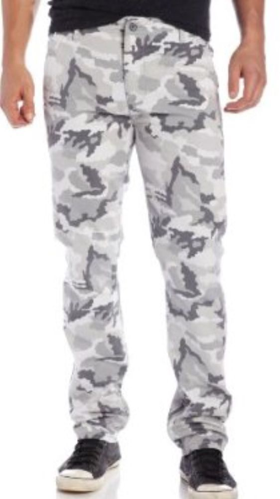Levi's Relaxed Fit Gray Camouflage Men's Straight Leg Cargo Pants ...