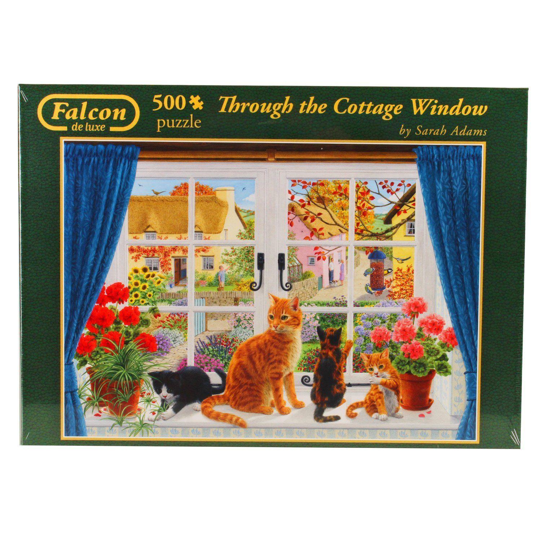 Falcon de Luxe - Through the Cottage Window Jigsaw Puzzle (500 Pieces): Amazon.co.uk: Toys & Games