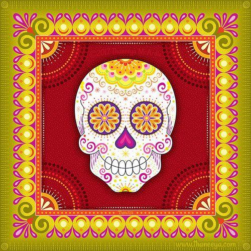 7385a2f8b Sugar Skull Art from Thaneeya McArdle's 2019 Sugar Skulls Calendar ...