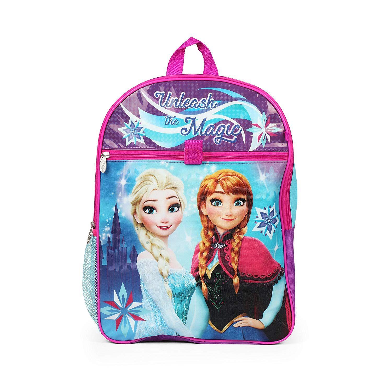 Ralme Disney Frozen Elsa and Anna Backpack Back to School 5 Piece  Essentials Set.  Disney b83e00b501dcb