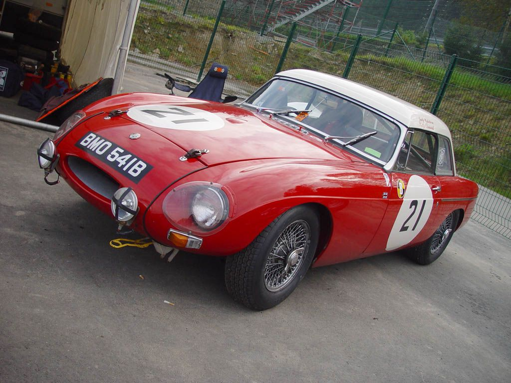 1963 works Le Mans MGB, on the entrylist described as the MG MGB Hardtop. The car was raced by Alan Hutcherson [US] and Paddy Hopkirk [UK] and finished 1st in class and a respectable 12th overall.