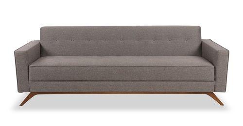 "Bauhaus 90"" Modern Fabric Sofa, Urban Hemp Modern sofa"