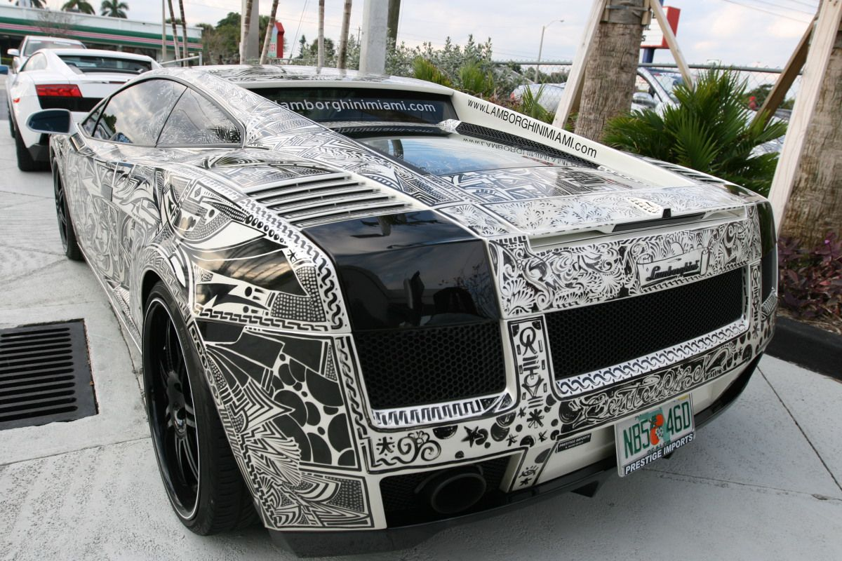 Sharpie Drawn All Over A Lamborghini Gallardo
