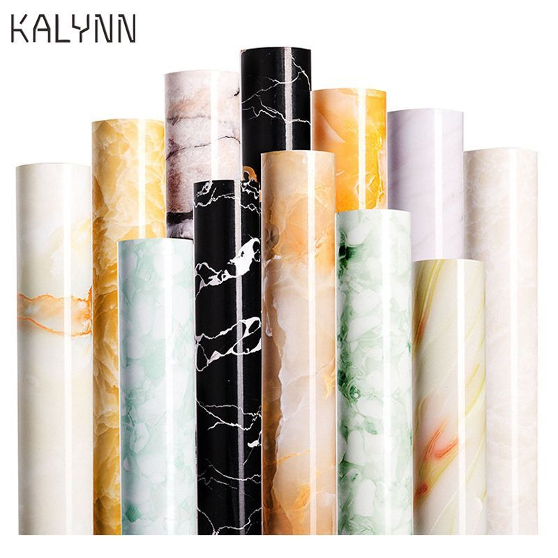 60x100cm Marble Self Adhesive Wallpaper Pvc Thicken Durable Waterproof Furniture Sticker Diy Wrap Ki 60x1 Waterproof Furniture Self Adhesive Wallpaper Diy Wrap