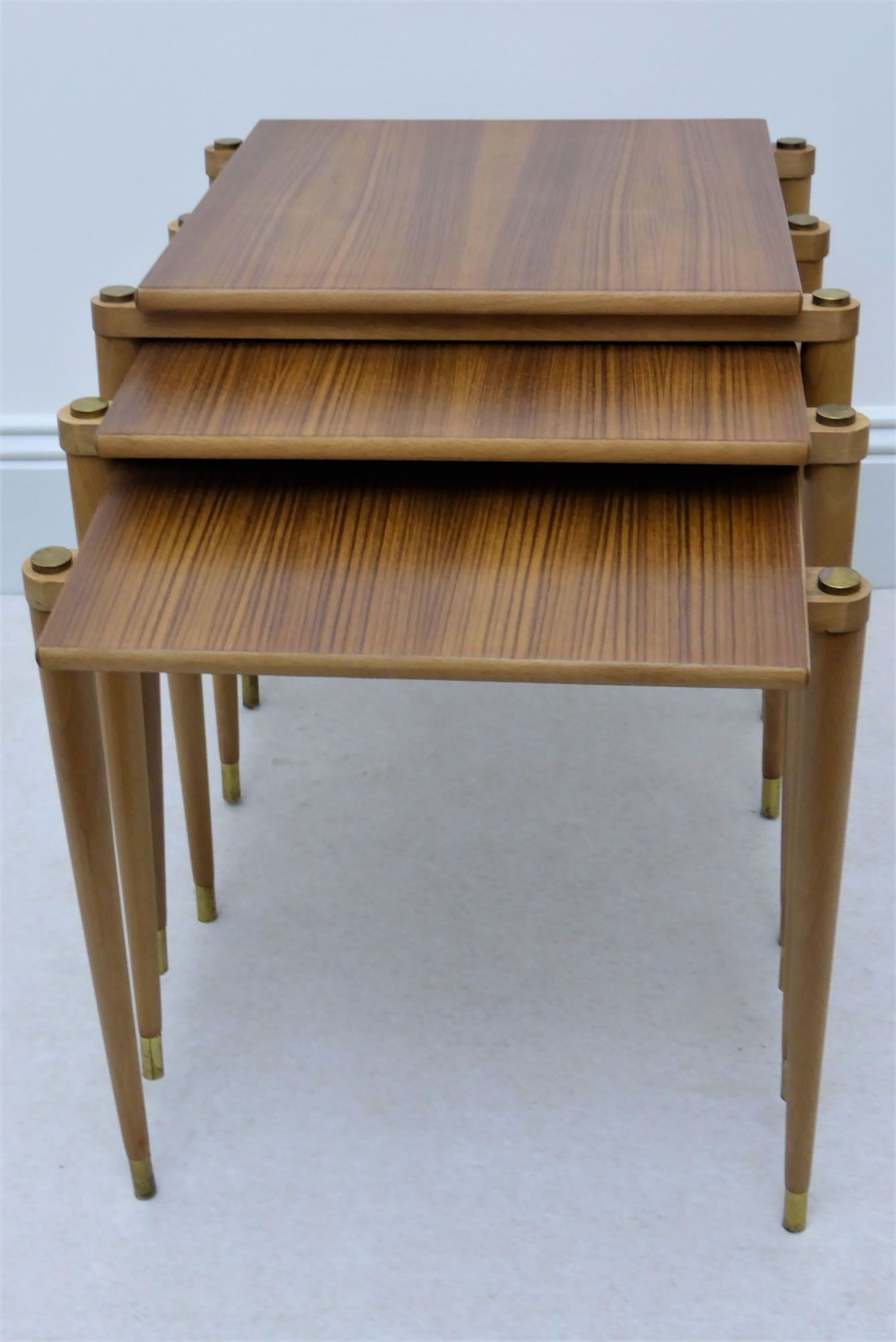 A B S Ljungqvist Nesting Tables In Teak 1960s Bijzettafels