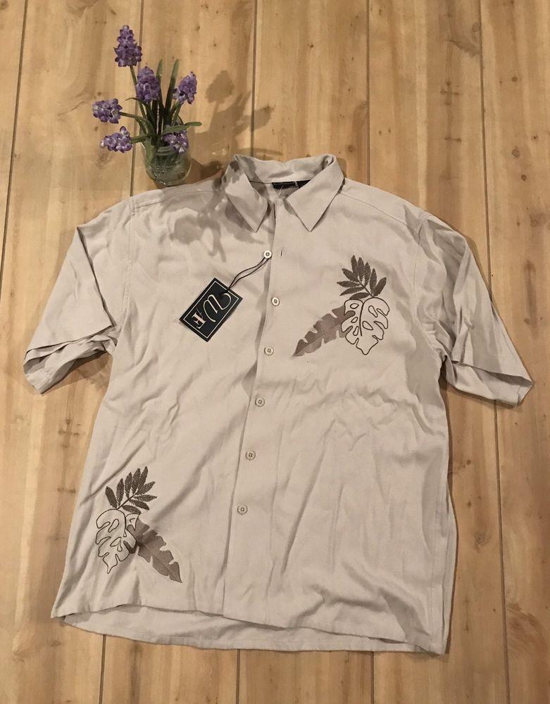 f1ac4f78 NWT WfF Men's Hawaiian Shirt 100% Silk Regular Fit - Size L - DD20 #fashion  #clothing #shoes #accessories #mensclothing #shirts (ebay link)