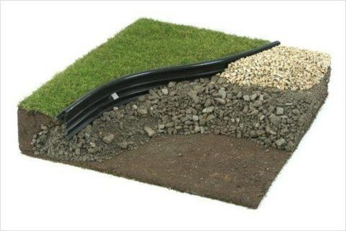 Edgeking Recycled Plastic Round Top Landscape Edging Landscape Edging Lawn Edging Garden Lawn Edging
