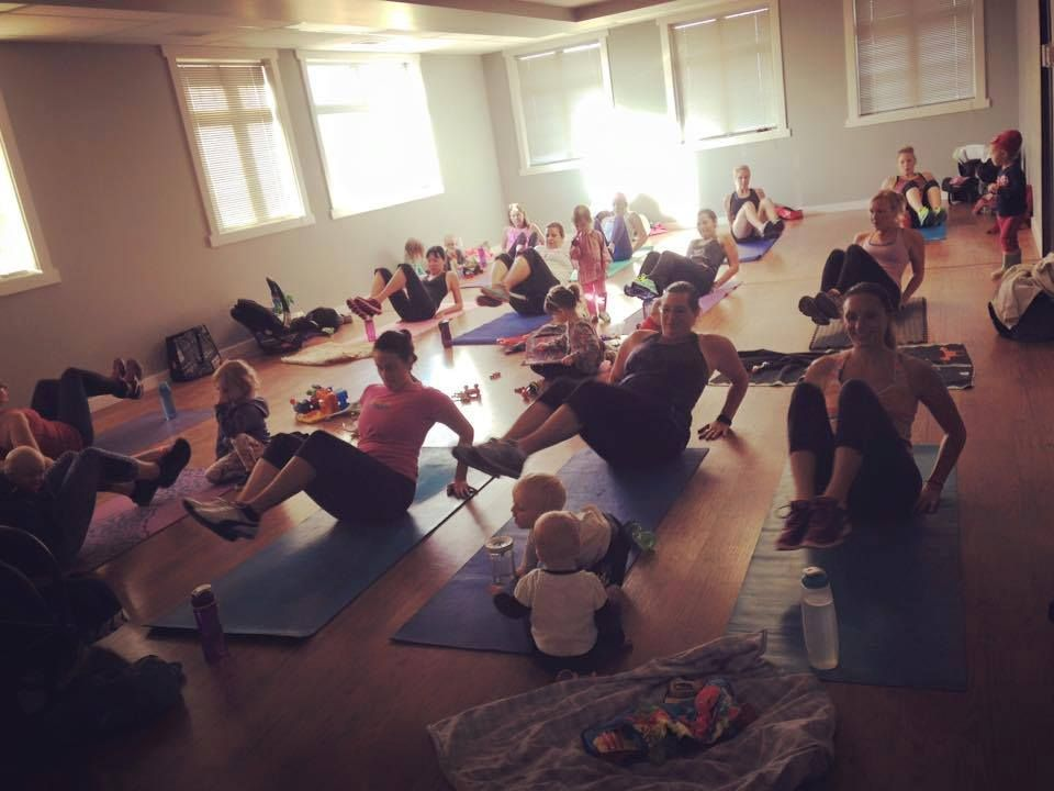 This makes us so happy! A packed Friday morning class of Hot Mamas and their minis!  Photo courtesy of Lindsey at Hot Mama Health & Fitness (Calgary SE franchise). #hotmamafit