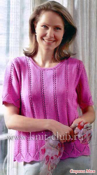 Схемы вязания летних кофточек для полных женщин 486