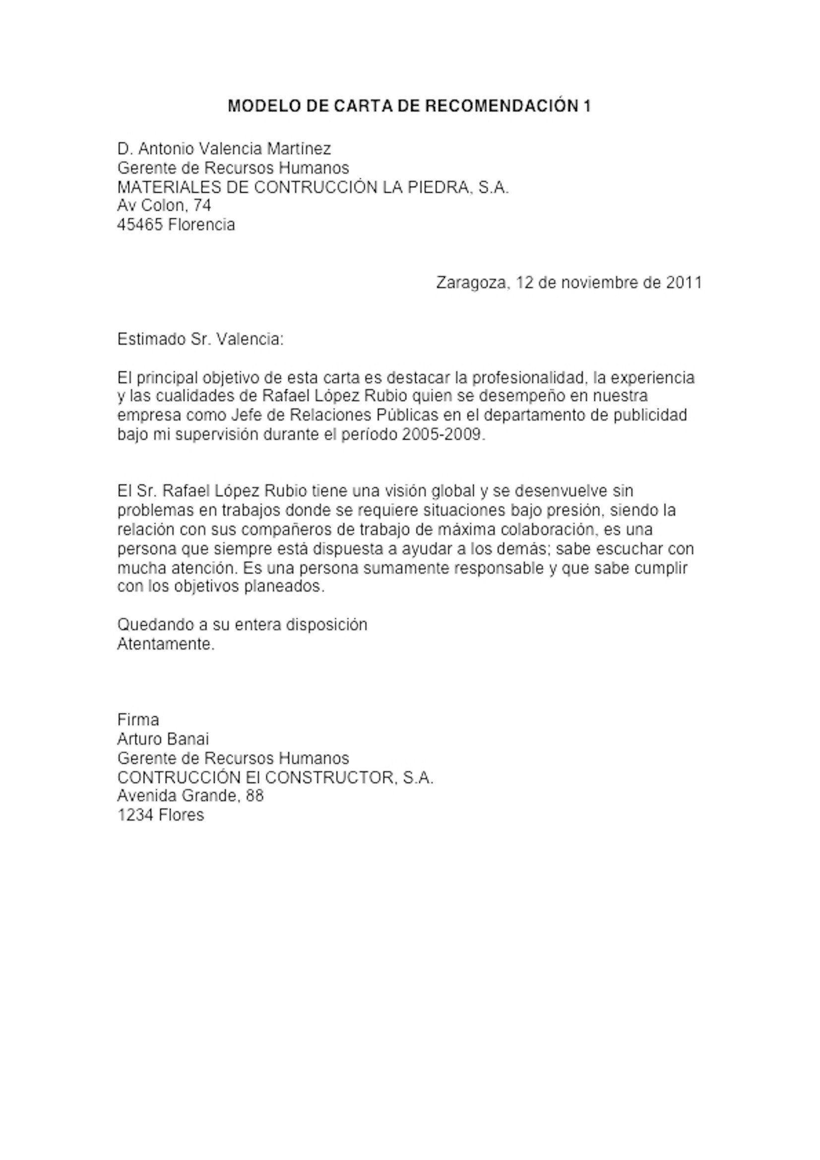 Ejemplo De Carta De Recomendacion Formal Ejemplos De Cartas De Recomendacion Ejemplo De Carta Formal Ejemplo De Carta Carta de recomendacion para trabajo