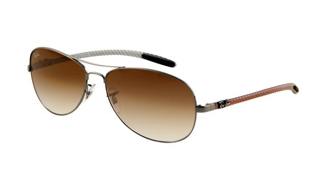 4e45696374 Ray Ban RB8301 Tech Sunglasses Gunmetal Frame Brown Mirror
