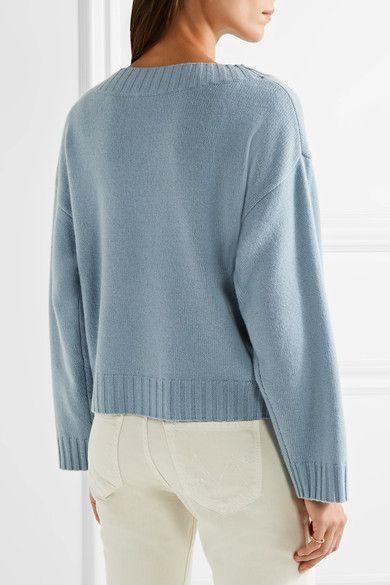 Vince - Cashmere Sweater - Sky blue | Cashmere sweaters, Cashmere ...