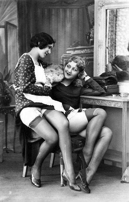 lingerie lesbians Vintage