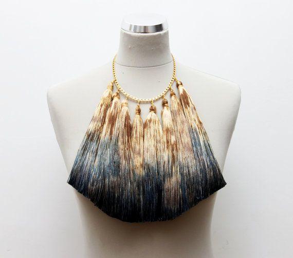 JAGUAR/ tribal tassel necklace by DDSLLGirlsStore on Etsy, $38.00