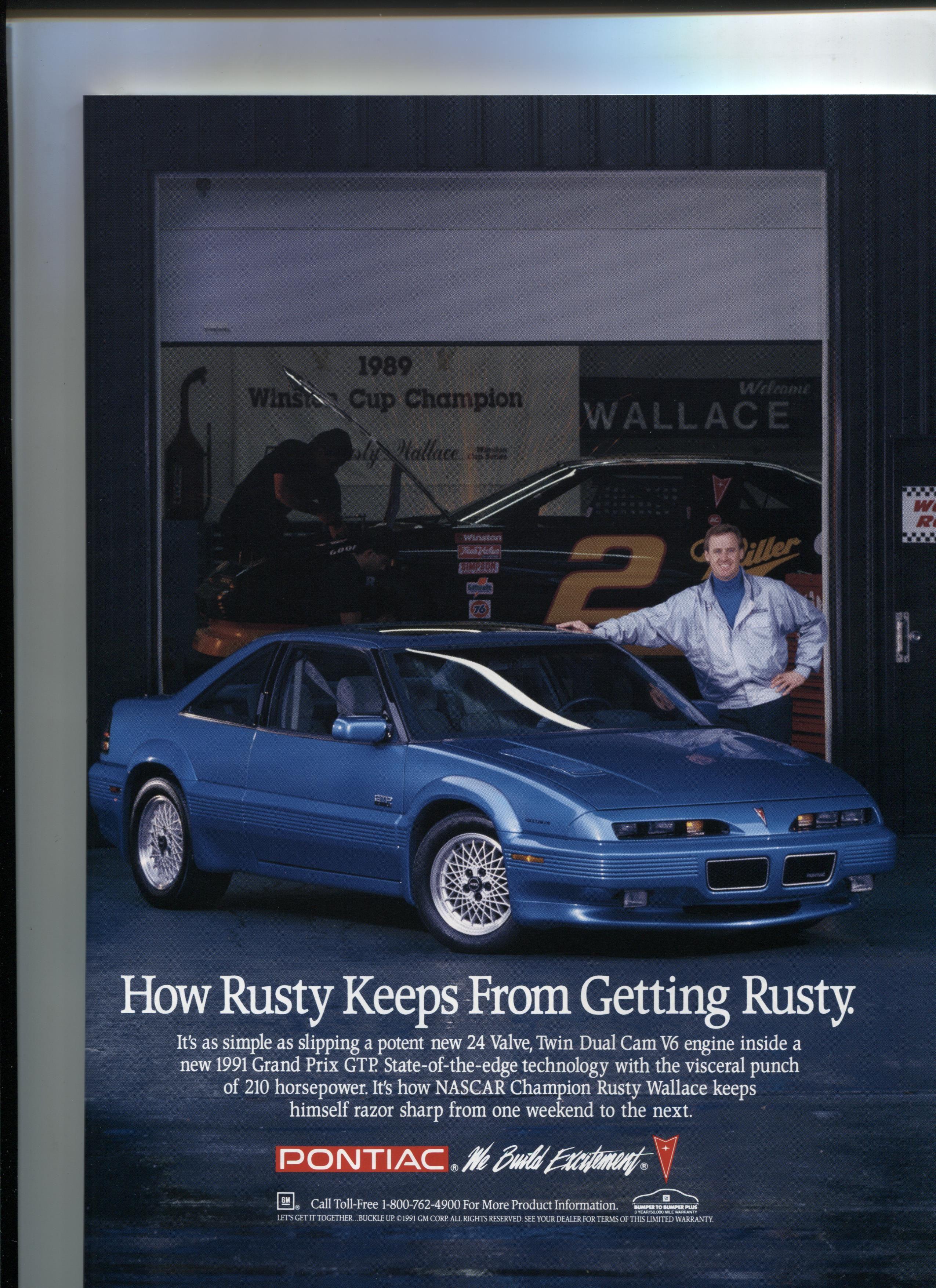 Rusty Wallace for Pontiac Throwback NASCAR Pinterest