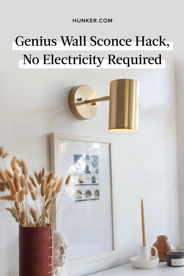 Genius Wall Sconce Hack, No Electricity Required | Hunker ... on Sconces No Electric Plug id=42752