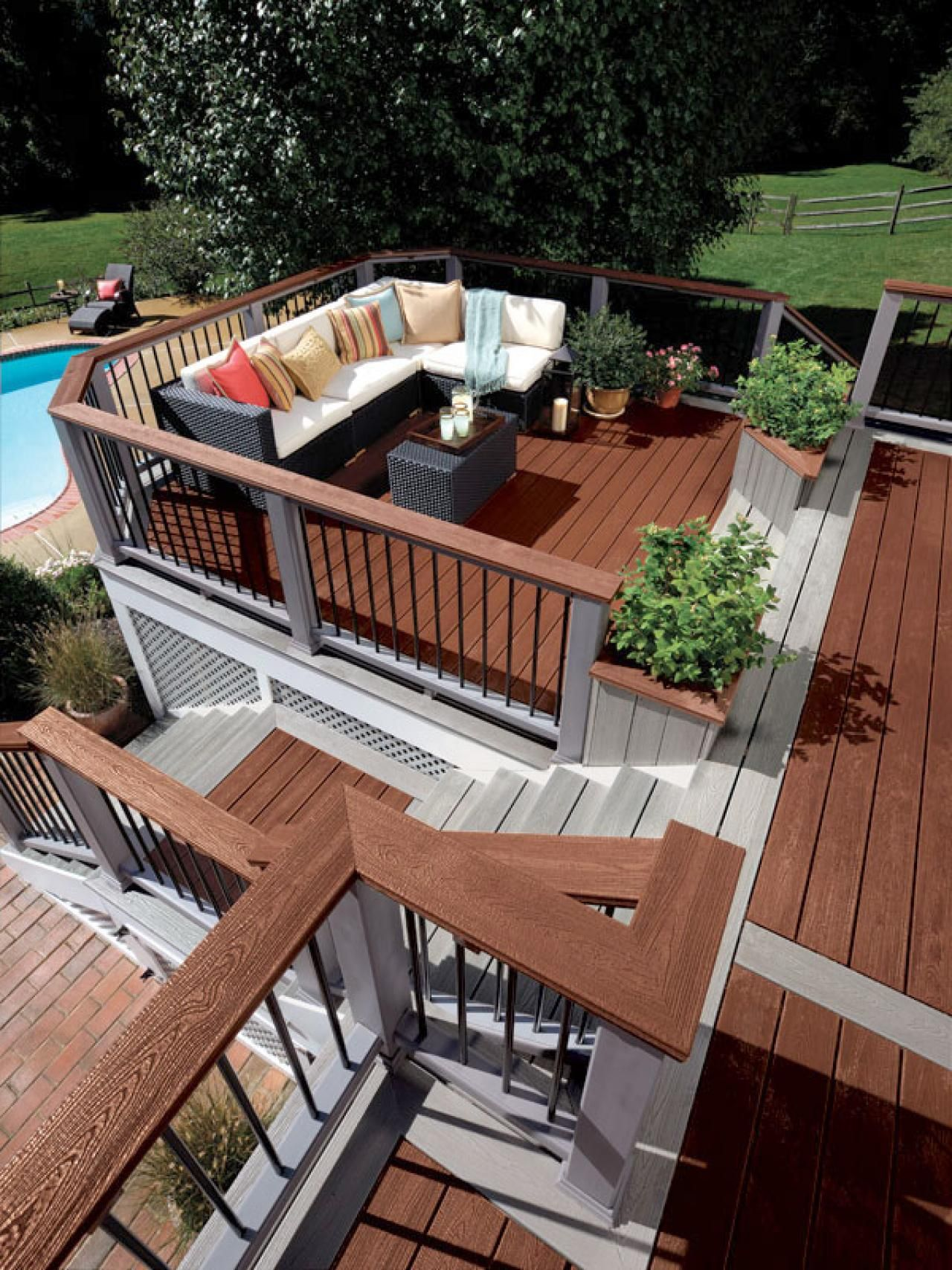 Deck Design Ideas | deck | Pinterest | Decking, Deck design and Backyard