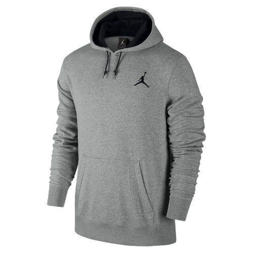 NWT Men's NIKE AIR Jordan All-Around Pull-Over Hoodie Grey/Black 612931-063  Sz M