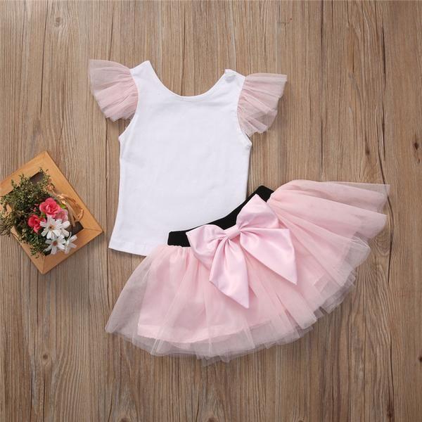 7734181c56 Fashion Women Baby Kids Girls Top T-shirt+ Skirt 2pcs Outfits Matching  Clothes