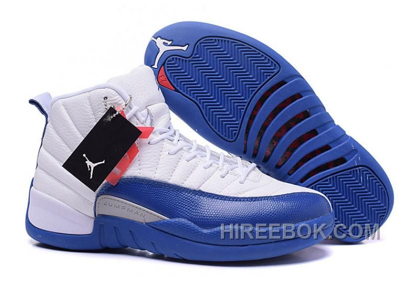 "6e79d744737d 2016 Air Jordans 12 Retro ""French Blue"" White French Blue-Metallic  Silver-Varsity Red Christmas Deals Kzffk"