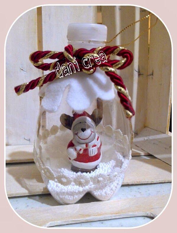 Lavoretti Per Natale Con Bottiglie Di Plastica.Riciclo Bottiglie Di Plastica Palline Per L Albero Decorate
