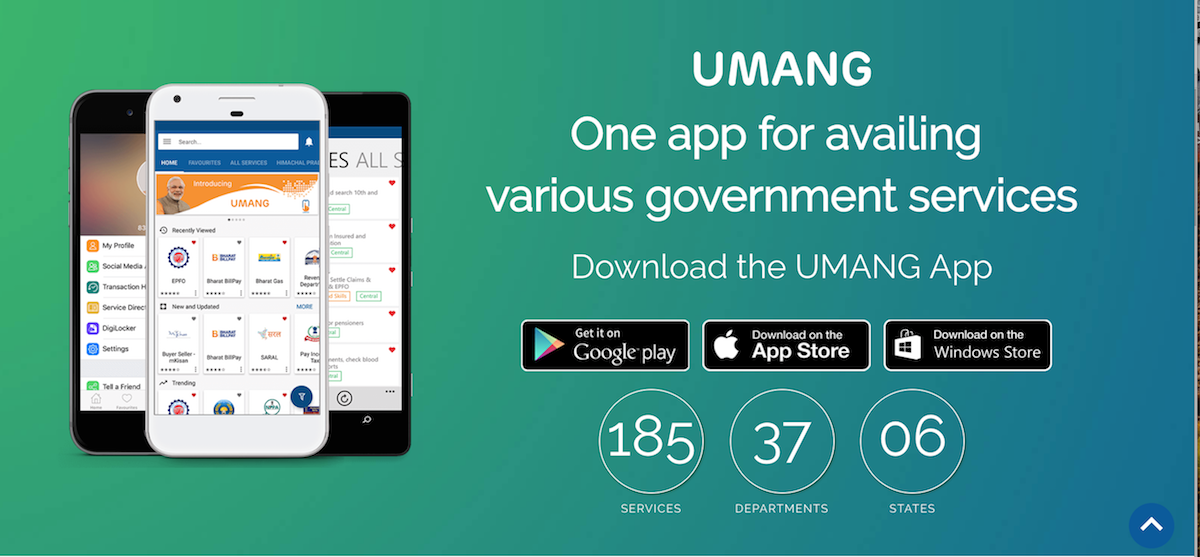 UMANG, one app for availing government services including