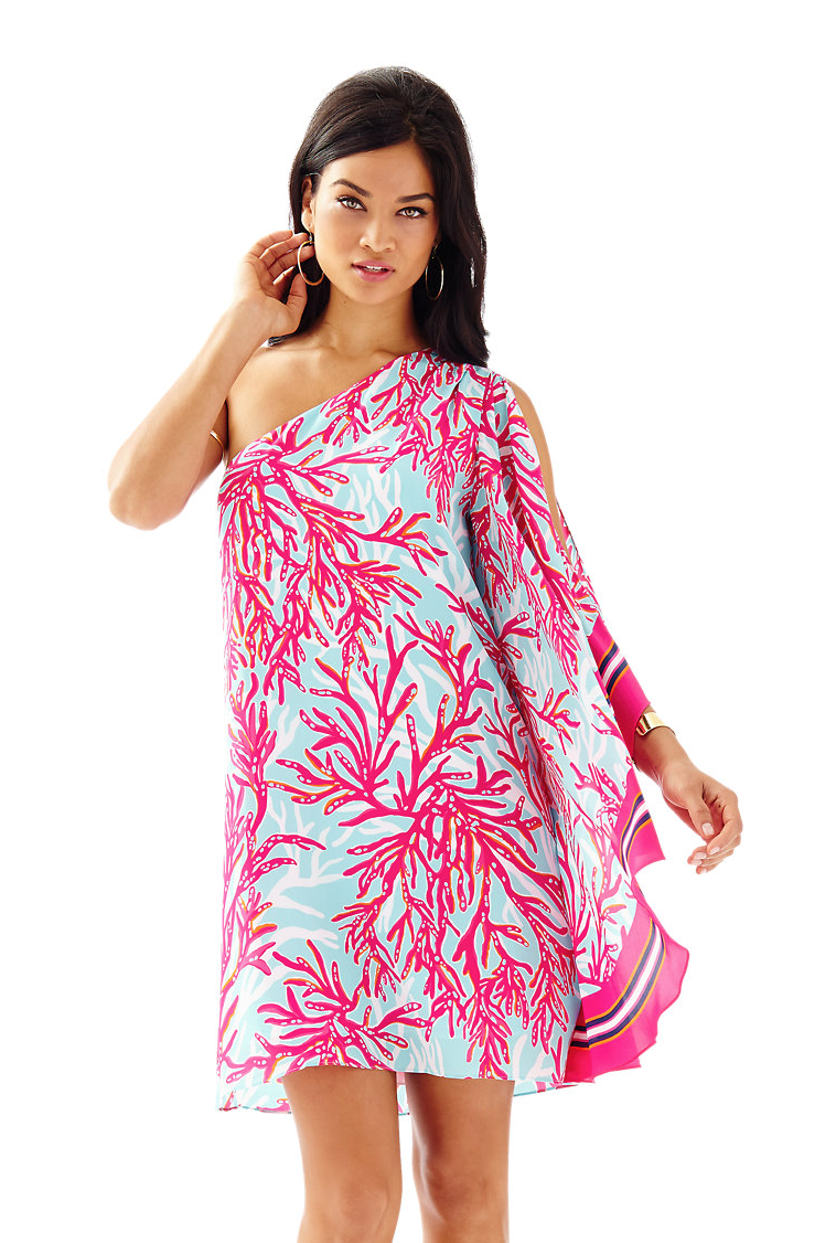 Marlee One Shoulder Dress / Lilly Pulitzer southern and preppy ...