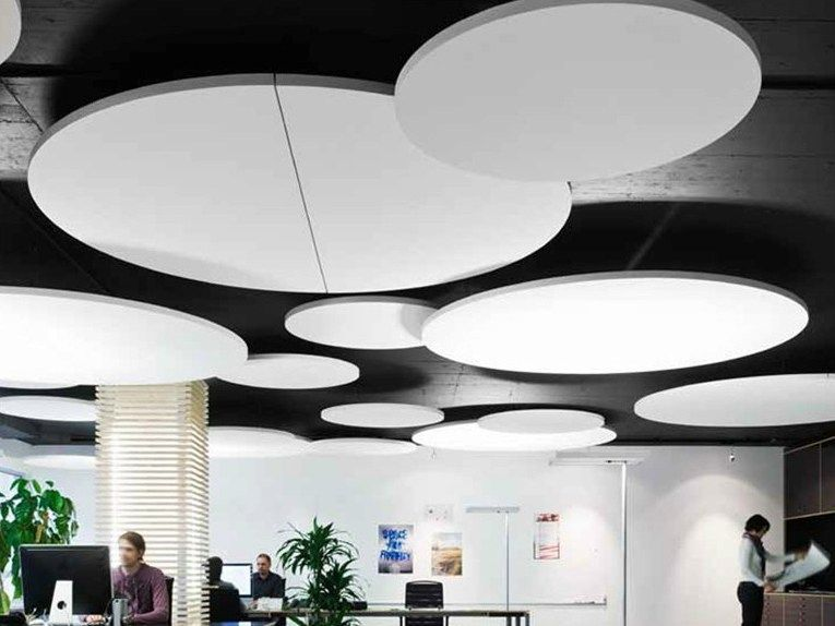 Glass Wool Acoustic Ceiling Clouds Ecophon Solo Circle
