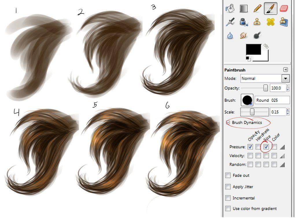 Simple Hair Painting Step By Step By Wingedgenesis5 On