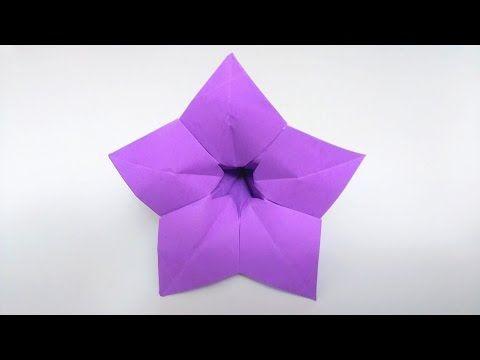 How To Make Origami Violet 5 Petals Flower Youtube Origami 5 Petal Flower Paper Origami Flowers Origami Flowers Tutorial